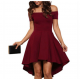 Women Slash A-Line Off Shoulder Sexy Party Casual Dress WC-87RD image