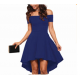 Women Slash A-Line Off Shoulder Sexy Party Casual Dress WC-87BL