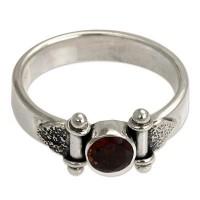 Mystical Eye Modern Sterling Silver Garnet Ring ANDR-3