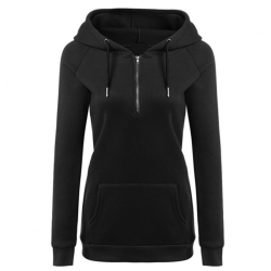 New Fashion Hoodie Thicken Long Sleeve Black Color Women Sweater WH-11BK