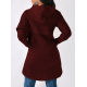 Women Long Sleeve Red Color Solid Irregular Pullover Hoodie WH-13RD image