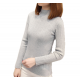 New Cashmere Round Neck Short Paragraph Grey Slim Sweater WH-17GR image