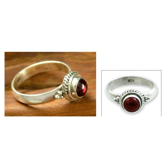 Mystery Sterling Silver and Garnet Ring ANDR-11