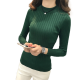 New Cashmere Round Neck Short Paragraph Green Slim Sweater WH-17GN image