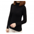New Cashmere Round Neck Short Paragraph Black Slim Sweater WH-17BK