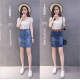 Women Fashion Sexy Midi Denim Vintage Design Blue Color Mini Skirt WC-89BL