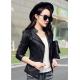 Slim Body Fit Women Paragraph Casual Leather Jacket WJ-09BK image
