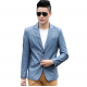 Men's Slim and Fit Good Quality Single Breasted Aqua Leather Casual Jacket MJ-01AQ