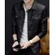 Latest Design Gents Fashion Slim and Fit Long-Sleeve Black Leather Casual Jacket MJ-06BK image
