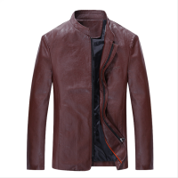 Men Body Fit Genuine Lambskin Faux Leather Red Casual Jacket MJ-09RD