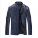 Men Body Fit Genuine Lambskin Faux Leather Blue Casual Jacket MJ-09BL