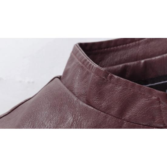 Men Body Fit Genuine Lambskin Faux Leather Blue Casual Jacket MJ-09BL image
