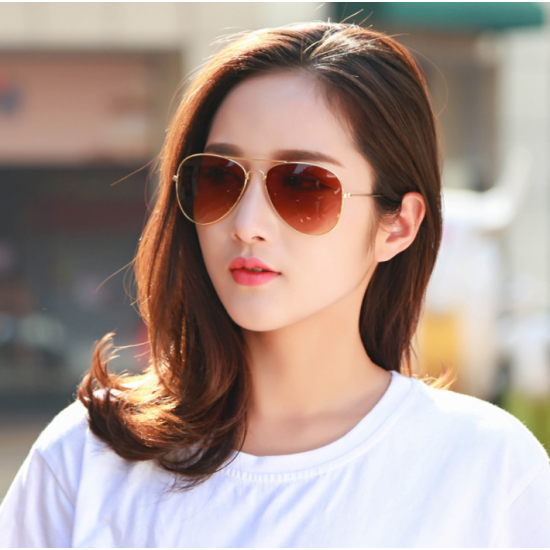 9db22d1efd Brown Shades Bright Reflective Aviator Unisex Sunglasses G-04 (Brown) image