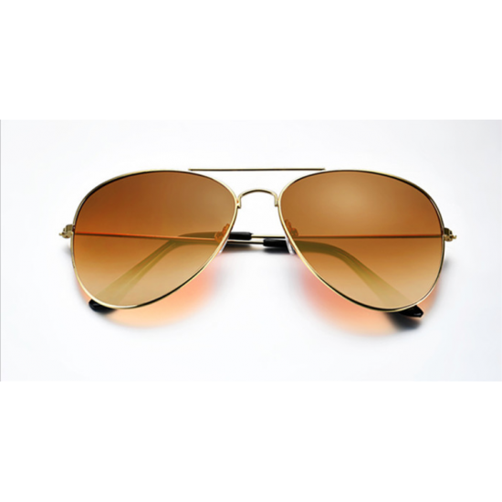 05908d4306 Buy Brown Shades Bright Reflective Aviator Unisex Sunglasses G-04 ...