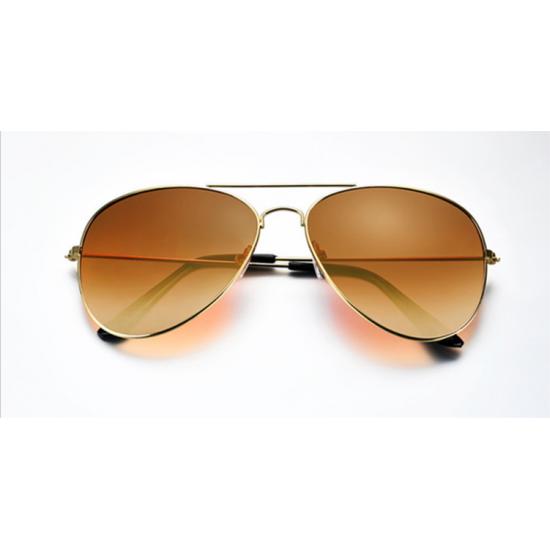 Brown Shades Bright Reflective Aviator Unisex Sunglasses G-04 (Brown) image