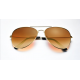 Brown Shades Bright Reflective Aviator Unisex Sunglasses G-04 (Brown)