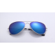 Blue Shades Bright Reflective Aviator Unisex Sunglasses G-04 (Blue Mirror)