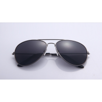 Black Shades Bright Reflective Aviator Unisex Sunglasses G-04 (Dark Black)