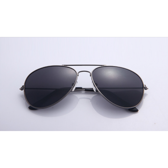 Black Shades Bright Reflective Aviator Unisex Sunglasses G-04 (Dark Black) image