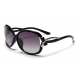 Classic Crystal Polarized Lens with Fashion Shades Women Sunglasses G-05BK (Black)