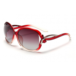 Classic Crystal Polarized Lens with Fashion Shades Women Sunglasses G-05RD (Red)