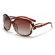 Classic Crystal Polarized Lens with Fashion Shades Women Sunglasses G-05BR (Brown)
