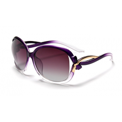 Classic Crystal Polarized Lens with Fashion Shades Women Sunglasses G-05PL (Purple)