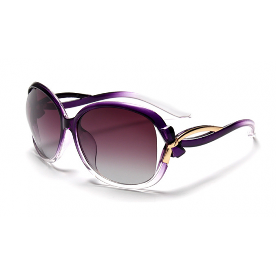 Classic Crystal Polarized Lens with Fashion Shades Women Sunglasses G-05PL (Purple) image