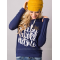 European Women Fashion  Quoted Long Hoodie H-09BL