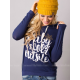 European Women Fashion Quoted Long Hoodie H-09BL image