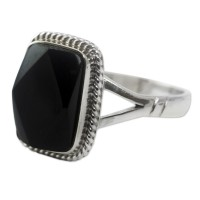 Black Maya Princess Black Jade Ring ANDR-22