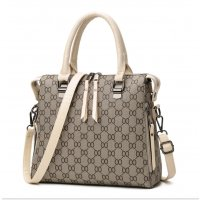 Women Latest Design Shoulder Diagonal Cream Brown Color Handbag WB-27CR