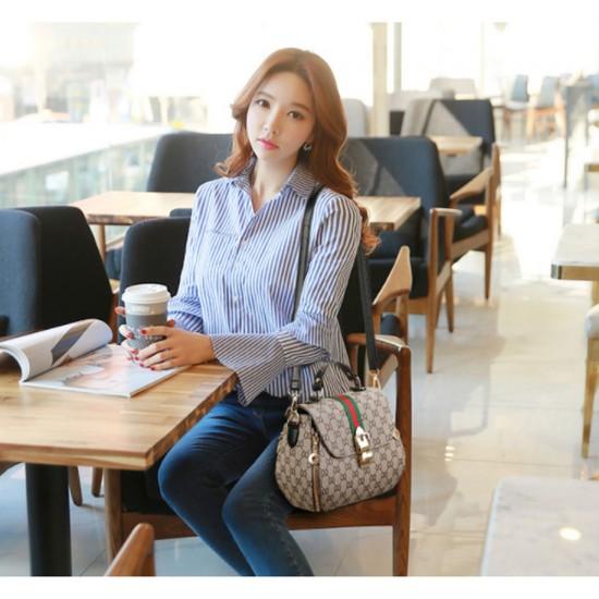 Women Fashion Shoulder Diagonal Black Straped Handbag WB-28BK