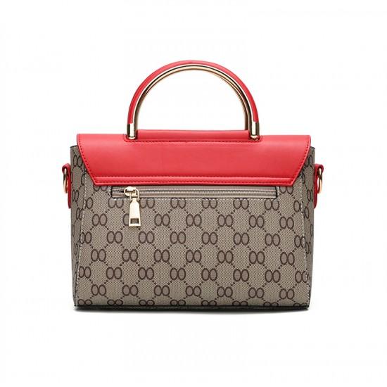 2018 Fashion Flip Diagonal Red Flip Shoulder Handbag WB-29RD image