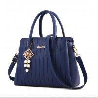 Latest Trending Simple Big Capacity Blue Shoulder Handbag WB-30BL