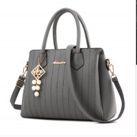 Latest Trending Simple Big Capacity Grey Shoulder Handbag WB-30GR