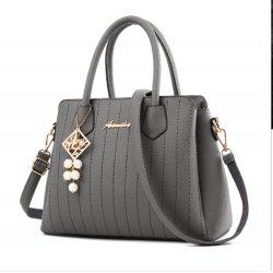 Latest Trending Simple Big Capacity Grey Shoulder Handbag WB-30GR