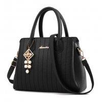 Latest Trending Simple Big Capacity Black Shoulder Handbag WB-30BK