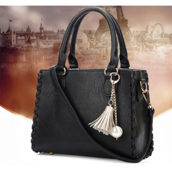 Women Fashion Shoulder Diagonal Black Color Handbag WB-31BK image