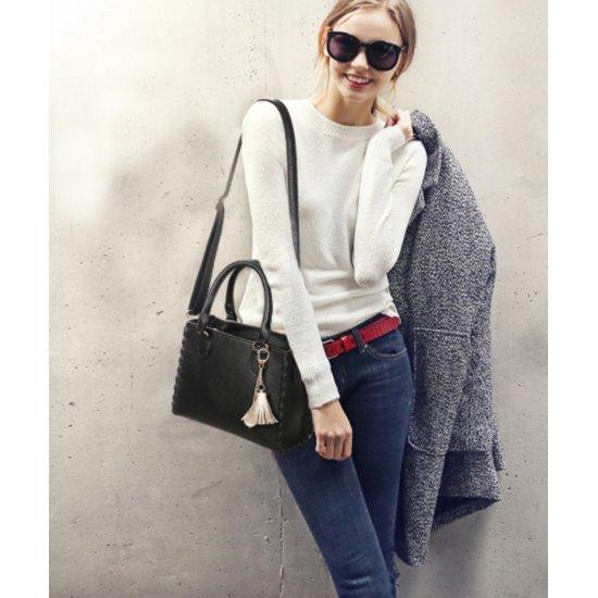 Women Fashion Shoulder Diagonal Black Color Handbag WB-31BK