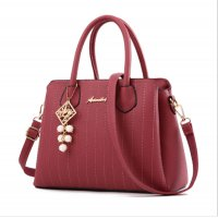 Latest Trending Simple Big Capacity Dark Pink Shoulder Handbag WB-30DP