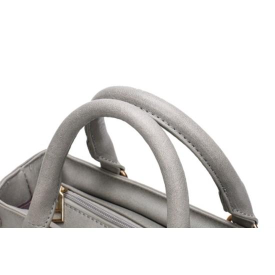 Women Fashion Shoulder Diagonal Grey Color Handbag WB-31GR image