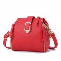 Latest Fashion Personality Big Capacity Red Messenger Handbag WB-34RD