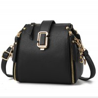 Latest Fashion Personality Big Capacity Black Messenger Handbag WB-34BK
