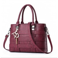 Women Fashion Shoulder Diagonal Maroon Color Handbag WB-37MR