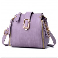 Latest Fashion Personality Big Capacity Purple Messenger Handbag WB-34PR