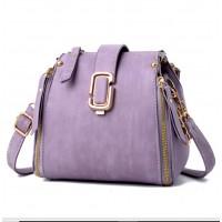 Latest Fashion Personality Big Capacity Purple Messenger Handbag WB-34PR