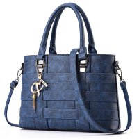 Women Fashion Shoulder Diagonal Blue Color Handbag WB-37BL