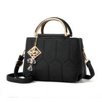Women Fashion Pillow Shape Shoulder Diagonal Black Color Handbag WB-35BK