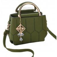 Women Fashion Pillow Shape Shoulder Diagonal Green Color Handbag WB-35GN
